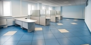 Office Work Station: Tile Flooring