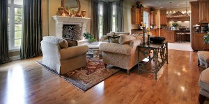 Traditional Family Room Wood Flooring